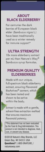 Nature's Way Sambucus Ultra-Strength Elderberry Drops Perspective: left