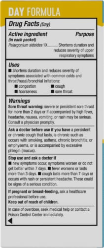 Nature's Way Umcka Cold Care Day & Night Lemon Citrus Flavored Packets Perspective: left