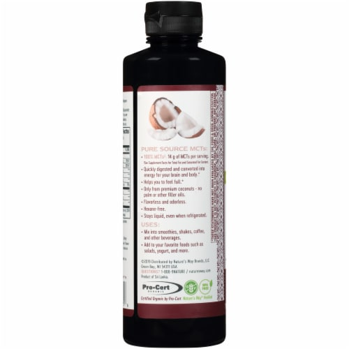 Nature's Way MCT Oil Perspective: left
