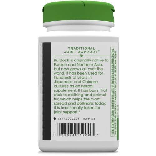 Nature's Way® Burdock Root Vegan Capsules 475mg Perspective: left