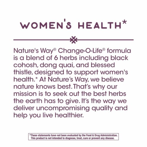 Nature's Way® Change-O-Life 7 Herb Blend Supplement Capsules 440mg Perspective: left
