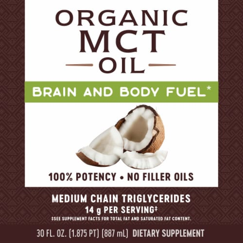 Nature's Way Organic MCT Oil Perspective: left
