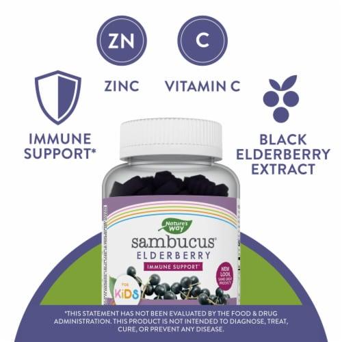 Nature's Way Sambucus Immune Support for Kids Gummies Perspective: left