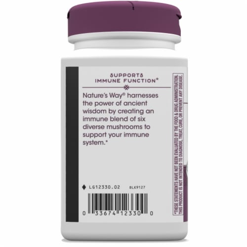 Nature's Way Immune Blend Capsules Perspective: left