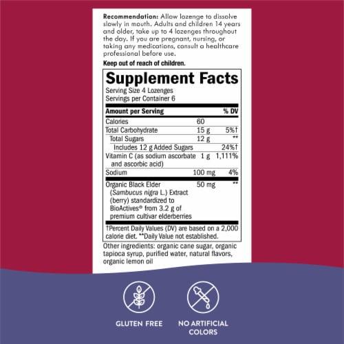 Nature's Way Sambucus Elderberry Wild Cherry Flavored Vitamin C Lozenges Perspective: left