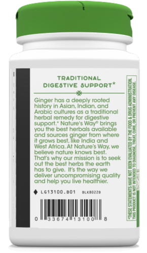 Nature's Way Ginger Root Capsules 550mg Perspective: left