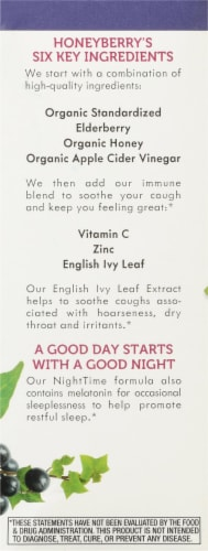 Nature's Way Sambucus Honey Berry Night Time Cough Syrup Perspective: left