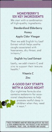 Nature's Way® Sambucus Honey Berry Kids' Nighttime Cough Syrup Perspective: left