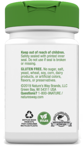 Nature's Way Goldenseal Root Capsules Perspective: left