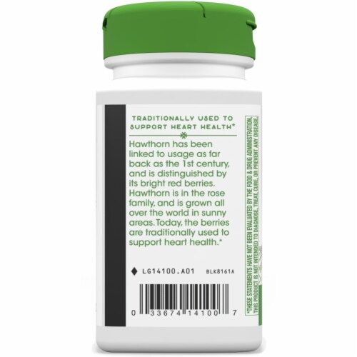 Nature's Way Hawthorn Berries Capsules 510 mg Perspective: left