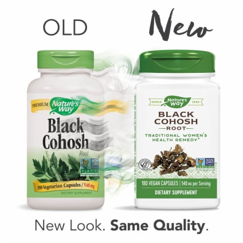Nature's Way Black Cohosh Root Capsules 540mg Perspective: left