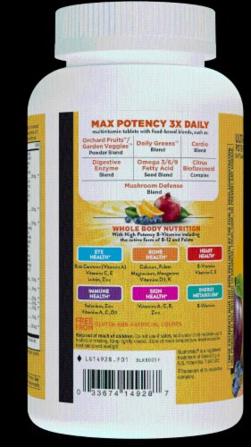 Nature's Way Alive! Multivitamin Max Potency Tablets Perspective: left