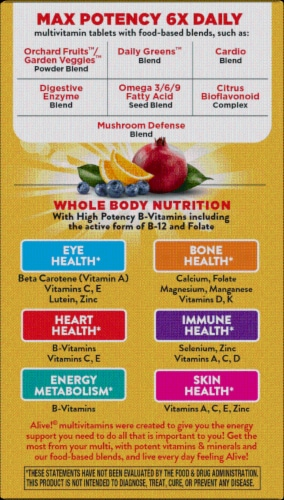 Nature's Way Alive! Whole Food Energizer Capsules Perspective: left