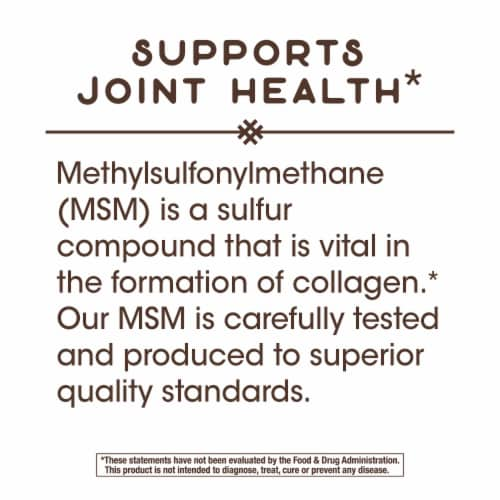 Nature's Way MSM Tablets 1000 mg Perspective: left