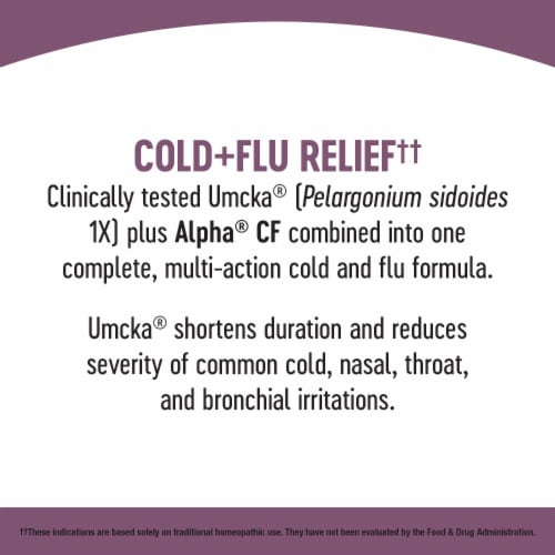 Nature's Way Umcka Cold & Flu Berry Flavored Syrup Perspective: left