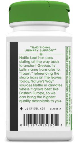 Nature's Way Nettle Leaf Capsules 870 mg Perspective: left