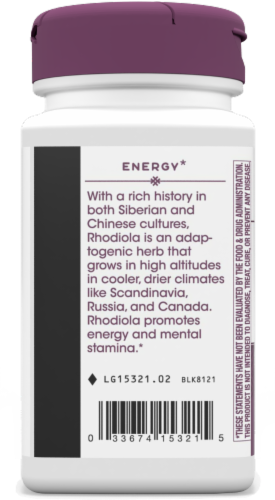Nature's Way Rhodiola Rosea Standardized Vcaps 250mg Perspective: left