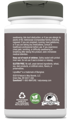 Nature's Way Thisilyn Daily Cleanse Vegan Capsules Perspective: left