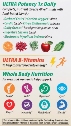 Nature's Way Alive! Once Daily Ultra Potency Multivitamin Perspective: left