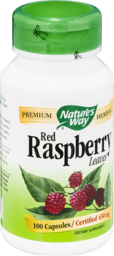 Nature's Way Red Raspberry Leaves Capsules Perspective: left