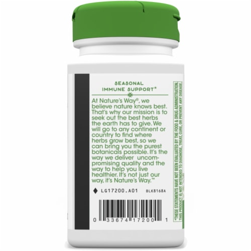 Nature's Way Spirulina Micro-Algae Capsules 380mg Perspective: left