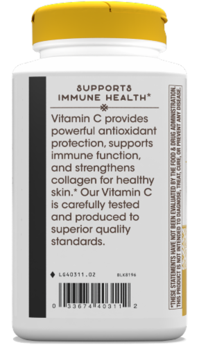 Nature's Way Vitamin C-500 with Rose Hips Capsules 1000mg Perspective: left