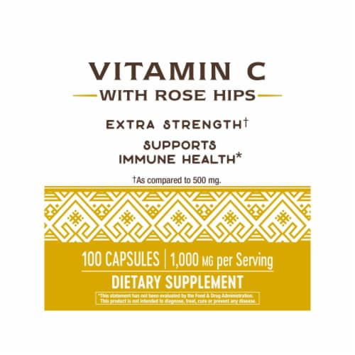 Nature's Way Vitamin C with Rose Hips Capsules 1000mg Perspective: left