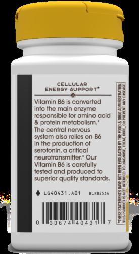 Nature's Way Vitamin B-6 Capsules Perspective: left