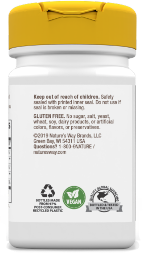 Nature's Way Cherry Flavored Vitamin B-12 Vegan Lozenges 2000mcg Perspective: left