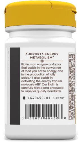 Nature's Way Biotin 1000 mcg Once Daily Energy Release Lozenges Perspective: left