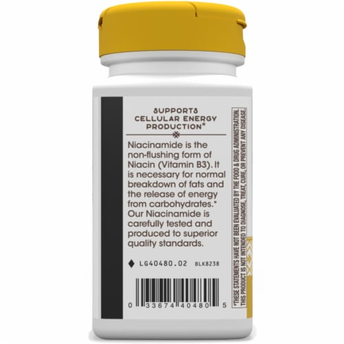 Nature's Way Niacinamide Non-Flushing Capsules Perspective: left