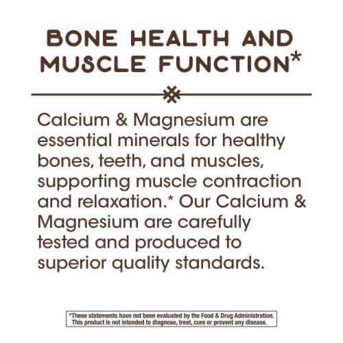 Nature's Way Calcium + Magnesium Bones & Muscles Capsules Perspective: left