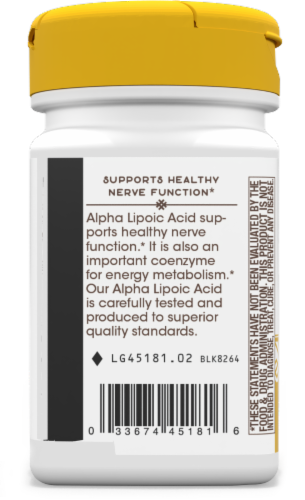 Nature's Way Alpha Lipoic Acid + Rosemary Capsules Perspective: left