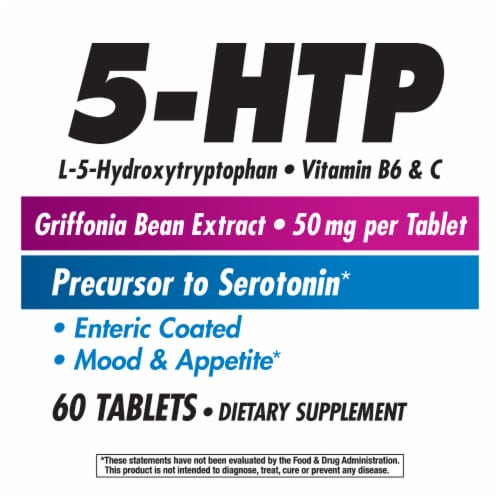 Nature's Way 5-HTP Tablets 50mg Perspective: left