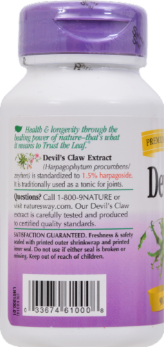 Nature's Way Devil's Claw Comfort Tonic Vegetarian Capsules Perspective: left