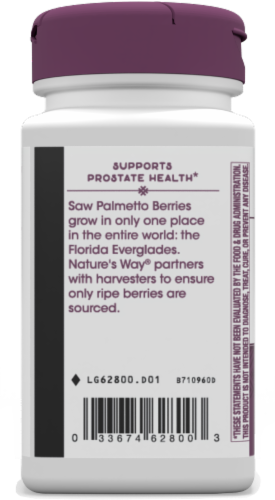 Nature's Way Saw Palmetto Standardized Softgels 160mg Perspective: left