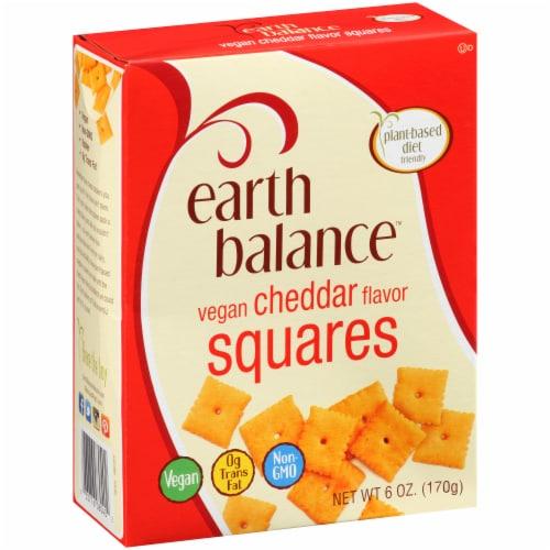 Earth Balance Vegan Cheddar Flavor Squares Perspective: left
