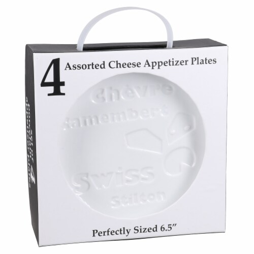 BIA Cordon Bleu Debossed Cheese Plates Set - White Perspective: left