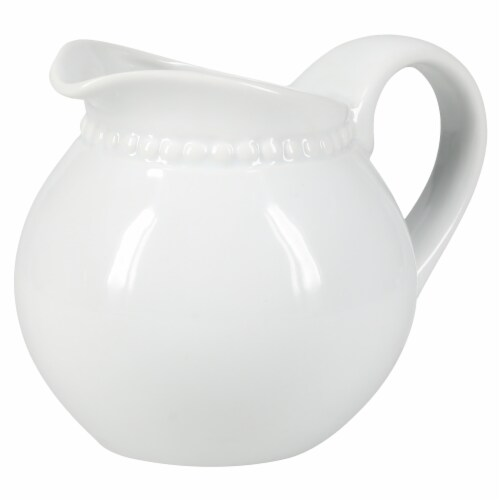 BIA Cordon Bleu Porcelain Beaded Covered Sugar Bowl and Creamer Set Perspective: left