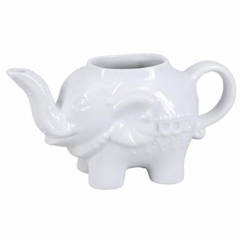 BIA Cordon Bleu Porcelain Elephant Sugar and Creamer Set - White Perspective: left