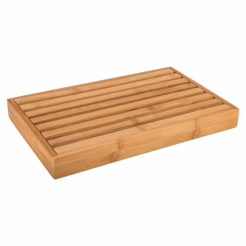 Danesco Bamboo Bread Cutting Board with Crumb Catcher Perspective: left