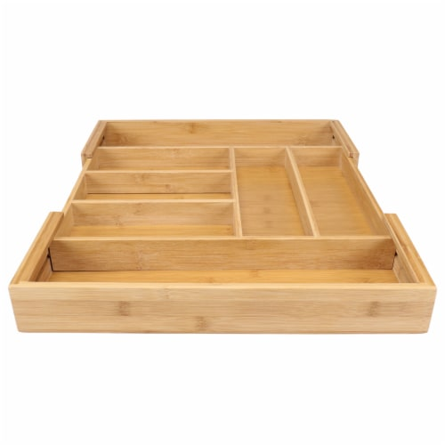 Danesco Eco-friendly Bamboo Expandable Drawer Organizer Perspective: left