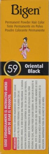 Bigen 59 Oriental Black Hair Color Perspective: left