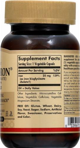 Solgar Gentle Iron 25 mg Capsules Perspective: left