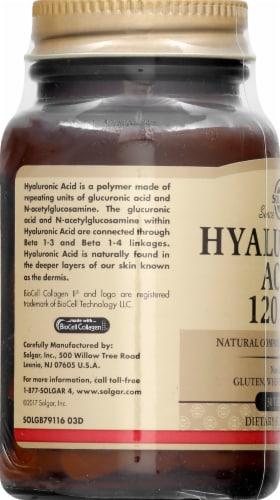 Solgar Hyaluronic Acid Tablets Perspective: left