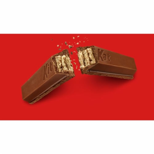 Kit Kat Milk Chocolate Wafer Candy Bar King Size Perspective: left