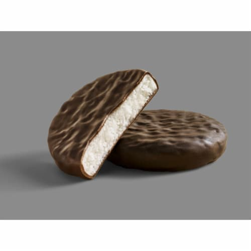York  Dark Chocolate Covered Peppermint Patties Candy Party Pack Perspective: left