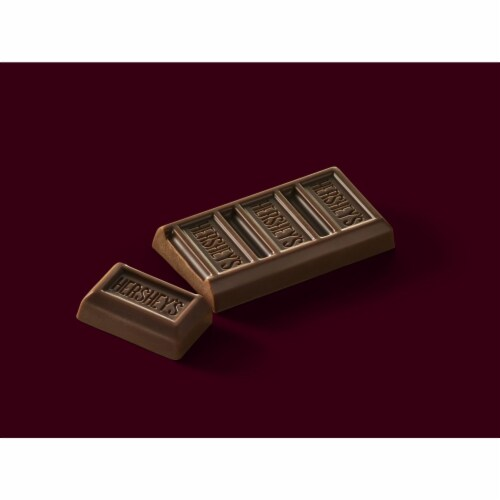 HERSHEY'S Snack Size Milk Chocolate Candy Bars Perspective: left