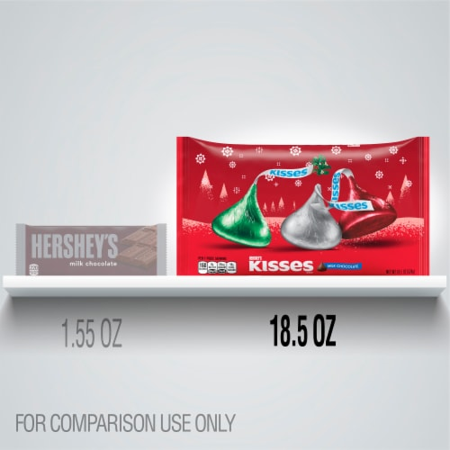 Hershey's Kisses Milk Chocolate Holiday Candy Perspective: left