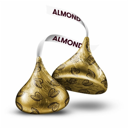 Hershey's Kisses Milk Chocolate with Almonds Perspective: left